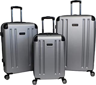 Reaction Hardside 3-Piece Expandable Spinner Luggage Set - Silver