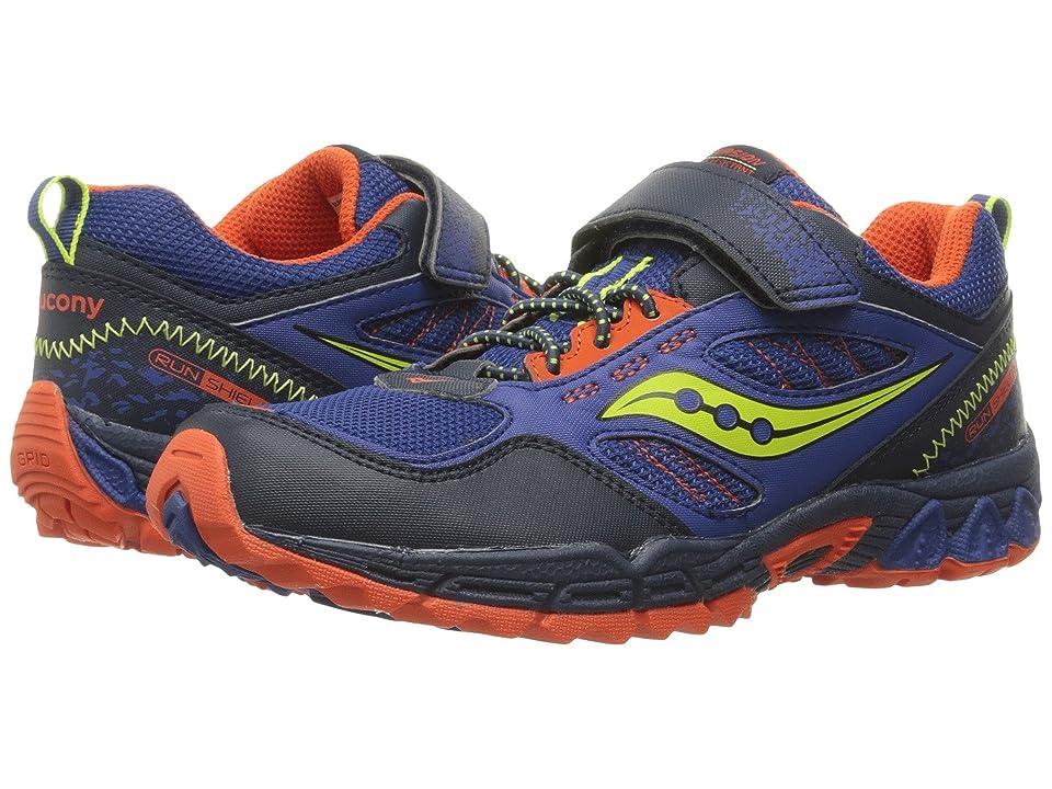 Saucony Kids Excursion Water Shield A/C (Little Kid) (Blue/Citron/Orange) Boys Shoes