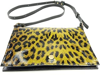 Leopard Print Patent Leather Festival Belt Bag Converts to Cross Body Purse