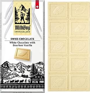Milkboy Swiss Chocolates - White Chocolate with Bourbon Vanilla Chocolate Bars (5 Pack)