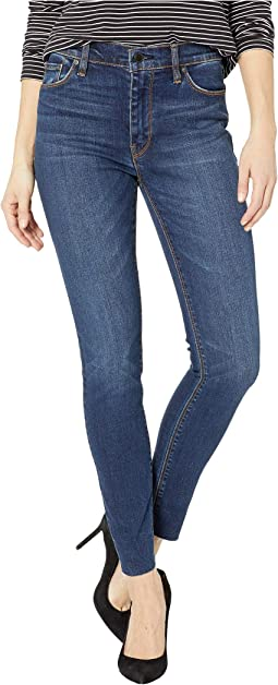 Barbara High-Waisted Super Skinny Jeans in Raw Hem Vagabond