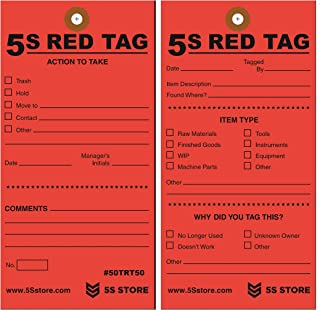 5s red tag labels