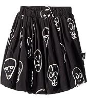 Nununu Skull Mask Balloon Skirt (Toddler/Little Kids)