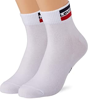 Levi's Unisex Sportswear Logo Mid Cut Socks (2 Pack)