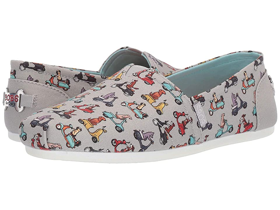 BOBS from SKECHERS Bobs Plush Pup Patrol (Gray Multi) Women