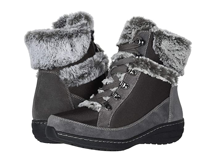 Aetrex  Fiona (Charcoal) Womens Lace-up Boots