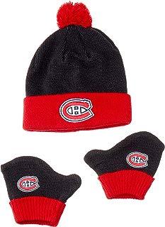 NHL Infant  OTS Pow Pow Knit Cap & Mittens Set