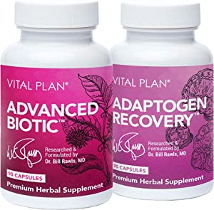 Vital Plan Immune Support Supplements by Dr. Bill Rawls – Immune Boost Bundle w/ Japanese Knotweed, Cat's Claw, Chinese Skullcap & Reishi Mushroom