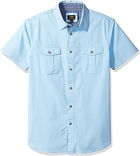 LEE Men's Regular Fit, Big & Tall, Short Sleeve Button Down Stretch Cotton Shirt