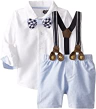 Mud Pie Baby Boys' Suspender Short Set