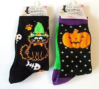 Halloween Socks Black Jack-o-lantern Cat Paws Girls 9-3 NWT