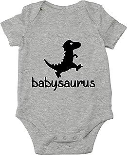 Crazy Bros Tees, Babysaurus - Body de bebé de una sola pieza para bebé - gris - 12 meses