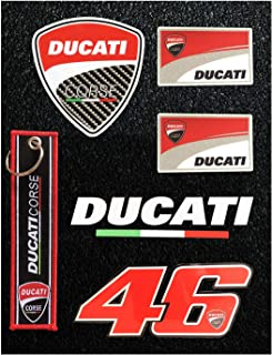 LLAP Sticker Decals for Ducati Key Chain Set Motorcycle 46 Valentino Rossi Helmet Stickers (5 Packs)