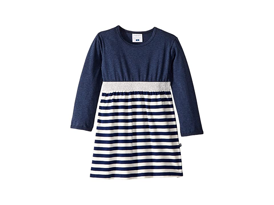 Toobydoo Play Dress (Infant/Toddler) (Navy Stripe) Girl