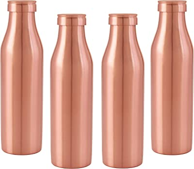Nirlon Rust Free Copper Bottle Set, 1000Ml, Set of 4
