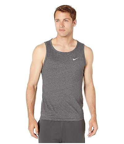 Nike Dry Tank Dri-FITtm Cotton Solid (Black Heather/Matte Silver) Men