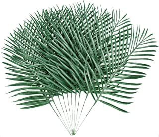 Sunm boutique 10 Pack Palm Leaves Artificial Plants Leaves Green Leaf Palm Home Kitchen Party Supplies Tropical Leaves Decorations