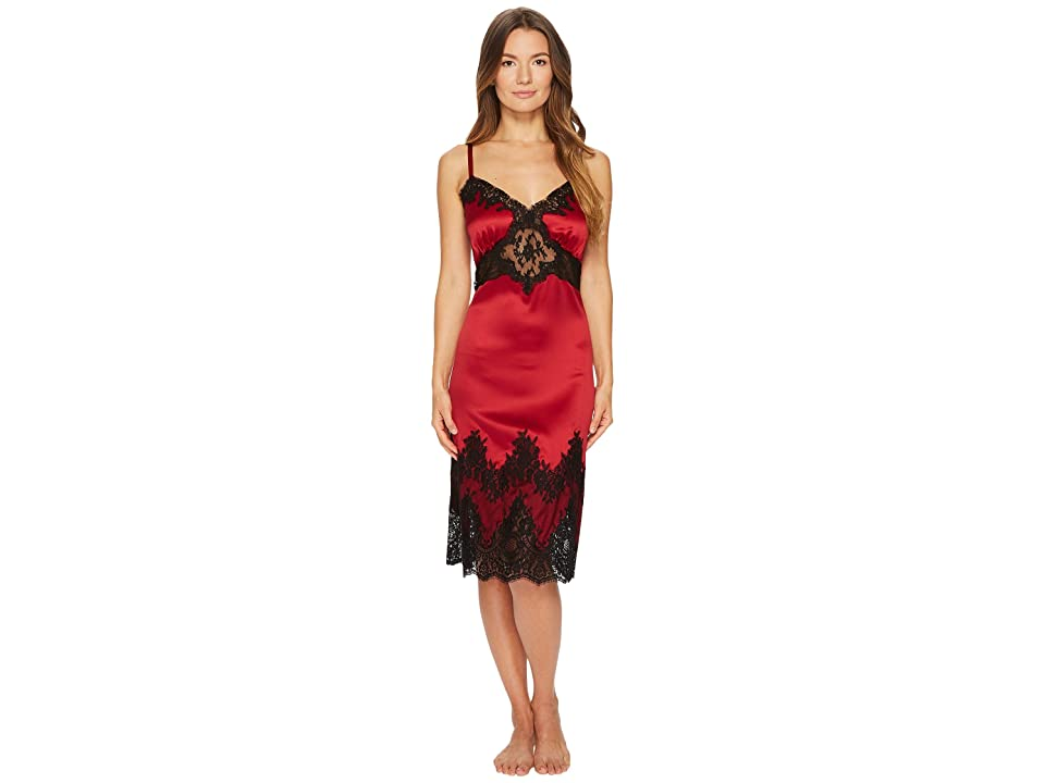 Dolce & Gabbana Silk with Lace Nightgown Sottoveste (Vinaccia Scuro) Women