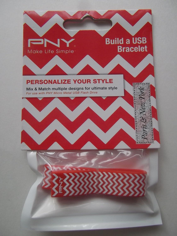 edición limitada PNY construire une une une USB Bracelet zigzag (rojo blanco)  el mas reciente