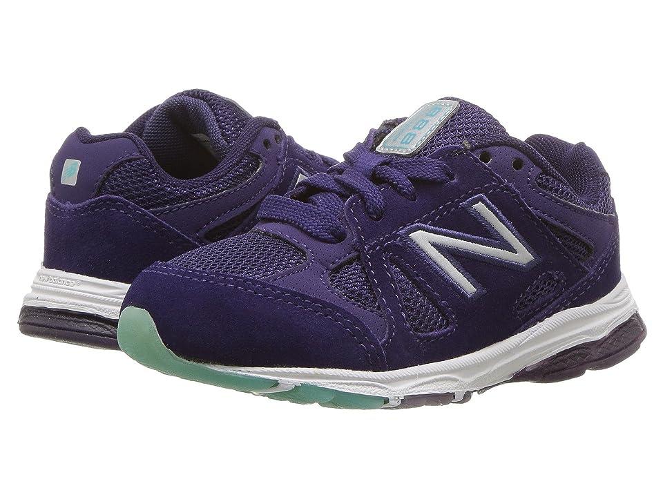 New Balance Kids KJ888v1I (Infant/Toddler) (Blue/Rainbow) Girls Shoes