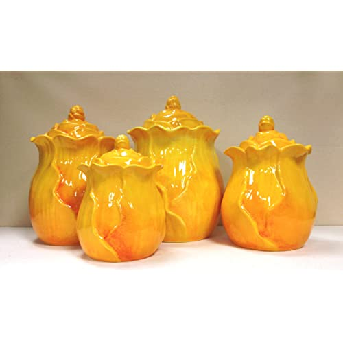 Yellow Canister Sets Kitchen: Amazon.com