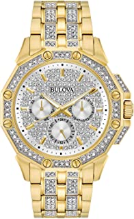 mens gold crystal watches