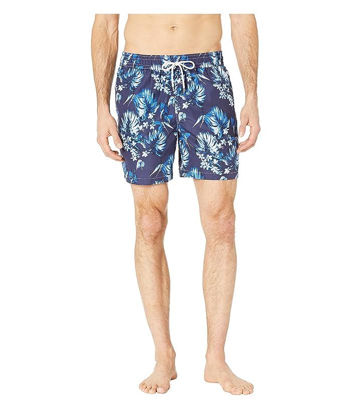 Polo Ralph Lauren Midnight Floral Traveler Swim Trunks (Tonal Flower) Men