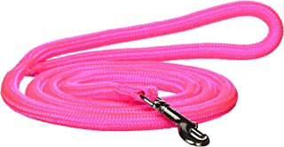 Hamilton 836 HP 5/16-Inch by 4-Foot Round Braided Nylon Dog Lead with Swivel Snap, Hot Pink