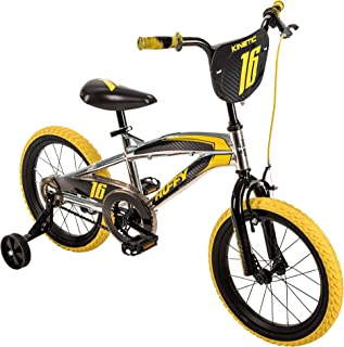 Huffy 16-inch Kinetic Boys' Bike, Ideal for Ages 4-6, Rider Height 42-48 inches, Two-Toned Wheels, Durable Steel Frame, Hi...