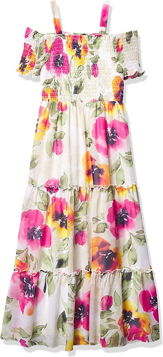 Speechless Girls' Off The Shoulder Tiered Maxi Dress
