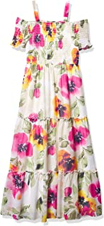 Speechless girls Off The Shoulder Tiered Maxi Dress Casual Dress