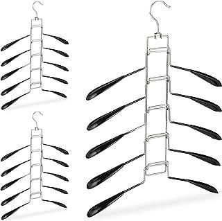 Silver, 24 PCS Appendiabiti ergonomico in plastica 44 cm. HOMEsolution 6145 Confort Speciale Design Effetto Legno