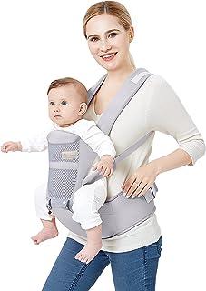 Babieztoon Baby Carrier Sling Kangaroo Bag Carrying Belt with Detachable Hip Seat, lightweight Adjustable Waist Length (up...