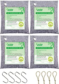 Bamboo Charcoal Air Purifying Bags, Fonday Odor Absorber Charcoal Bags, Odor Absorber for Home and Car (Pet Friendly), Act...