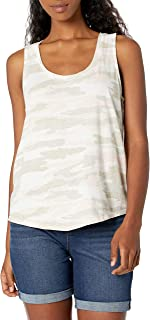 Lucky Brand Women's Sleeveless Scoop Neck Camo Tank Top