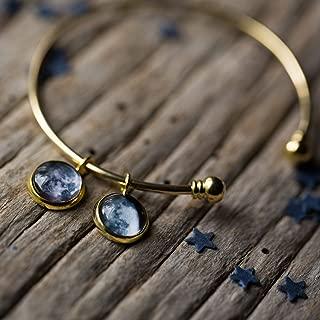 Custom Birth Moon Charm Bracelet