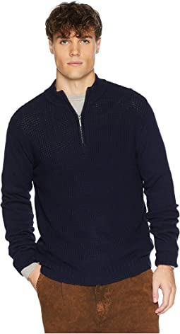 1/4 Zip Funnel Neck Sweater
