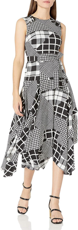 Calvin Klein Women's Crew High quality Neck with gift Ruffle Detail Dress