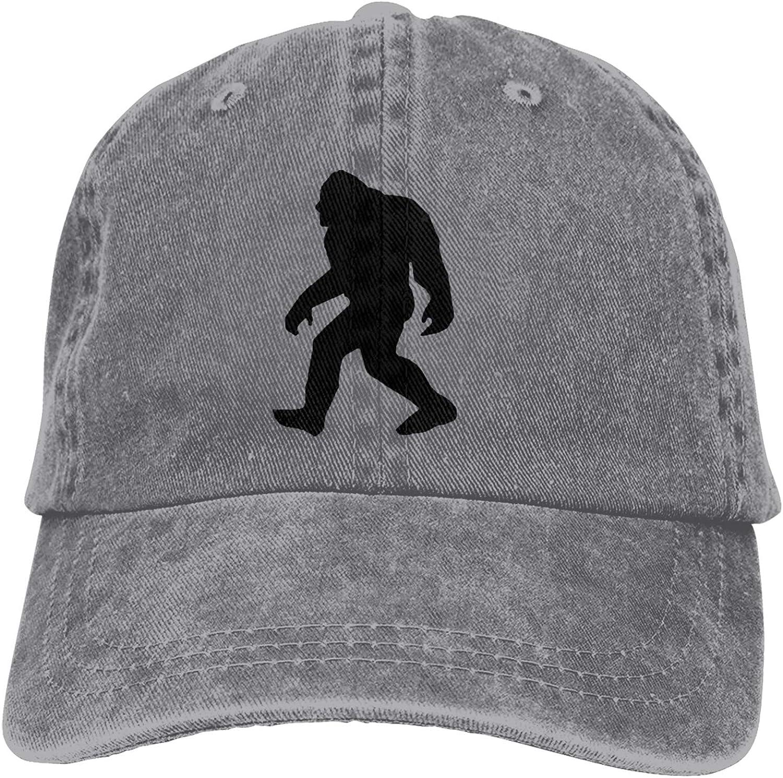 Denim Cap Bigfoot Sasquatch Baseball Dad Cap Classic Adjustable Casual Sports for Men Women Hat