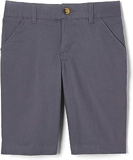 French Toast Girls' Adjustable Waist Stretch Twill Bermuda Short (Standard & Plus), School Uniform