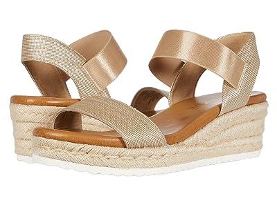 Anne Klein Cara Wedge Sandal (Light Gold) Women