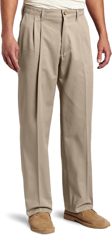 Lee Men's Big & Tall Big-Tall Comfort-Waist Custom-fit Pleated Pant