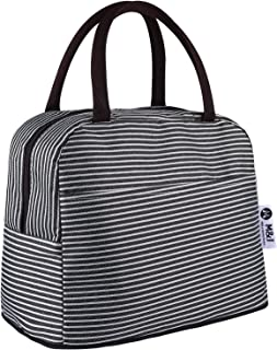 Lunch Bag Tote Bag Lunch Organizer Waterproof Lunch Holder Lunch Container Insulated Lunch Cooler Bag for Women/Men (black)