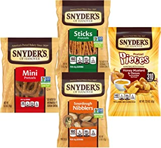 Sponsored Ad - Snyder's of Hanover Pretzels Variety Pack, 4 Flavors, 36 Individual Snack Bags