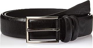 SHADOW Men's Casual Belt PU Leather Classic Dress Belt Single Prong Buckle, Black