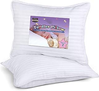 Utopia Bedding Oreiller Bébé (Lot de 2) - 33 x 45 cm Oreiller pour Tout-Petit mit Tissu en Coton Mélangé - Respirant Couss...