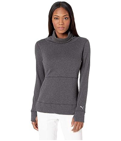 PUMA Golf Brisk Pullover (Dark Gray Heather) Women