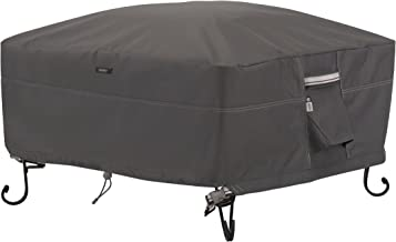 Classic Accessories Ravenna Square Fire Pit/Table Cover, 30-Inch