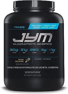 Mass JYM Protein Powder - Egg White, Milk, Whey Protein Isolates & Micellar Casein | JYM Supplement Science | Tahitian Vanilla Bean Flavor, 5 lb