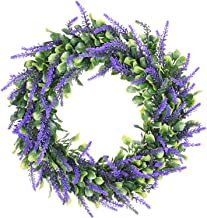 Lvydec Artificial Lavender Wreath, 15
